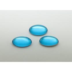 50 ovale aigue marine 14x10