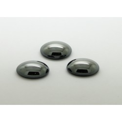 25 ovale hematite 18x13