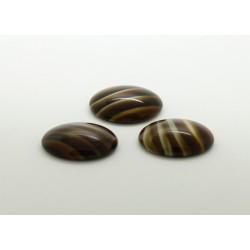 25 ovale marron pierre 18x13