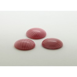 50 ovale rose soie 10x08