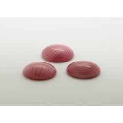 50 ovale rose soie 14x10