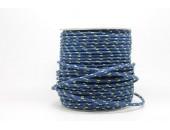 50 Metres Cordon ''BUNGEE'' tricolore base marine 3mm