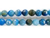 perle facettes craquelee agate bleu ciel 08mm - Fil de 40 Centimetres