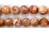 Perles facettes Agate Feu 10mm - Fil de 40 Centimetres