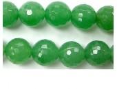 Perle facettes Aventurine verte 6mm - Fil de 40 Centimetres