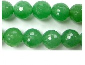 Perle facettes Aventurine verte 8mm - Fil de 40 Centimetres