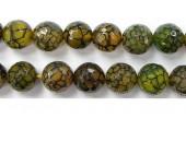 Perle facettes Agate orange matrix 14mm - Fil de 40 Centimetres