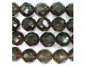 Perle facettes quartz fume 12mm - Fil de 40 Centimetres