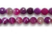 Perles facettes Agate Rose striee 16mm - Fil de 40 Centimetres