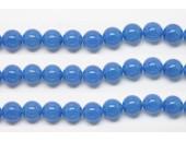 Perles en pierres agate bleue 12mm - Fil de 40 Centimetres