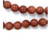 Perles en pierres gold stone 6mm - Fil de 40 Centimetres