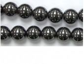 Perles en pierres hematite 10mm - Fil de 40 Centimetres