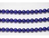 Perles en pierres howlite trempee lapis 8mm - Fil de 40 Centimetres
