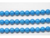 Perles en pierres howlite trempee turquoise 6mm - Fil de 40 Centimetres