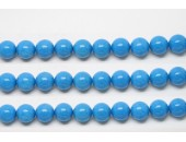 Perles en pierres howlite trempee turquoise 8mm - Fil de 40 Centimetres