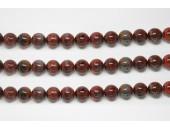 Perles en pierres jaspe breciated 10mm - Fil de 40 Centimetres