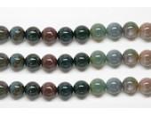 Perles en pierres jaspe fancy 8mm - Fil de 40 Centimetres