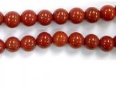 Perles en pierres jaspe rouge 6mm - Fil de 40 Centimetres