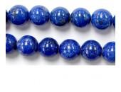 Perles en pierres lapis lazuli 8mm - Fil de 40 Centimetres