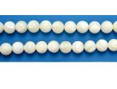 Perles en pierres nacre 6mm - Fil de 40 Centimetres