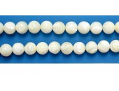 Perles en pierres nacre 12mm - Fil de 40 Centimetres