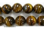 Perles en pierres oeil de tigre 6mm - Fil de 40 Centimetres