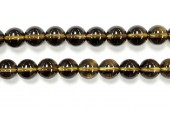 Perle pierre Quartz fume 6mm - Fil de 40 Centimetres