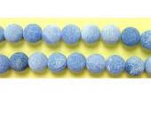 perle agate antique look bleue 8mm - Fil de 40 Centimetres