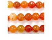 Perle cornaline madagasca 8mm - Fil de 40 Centimetres