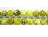 perle agate Lime chauffee 8mm - Fil de 40 Centimetres