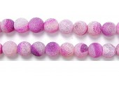 perle agate antique look rose 8mm - Fil de 40 Centimetres