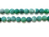 perle agate antique look verte 8mm - Fil de 40 Centimetres