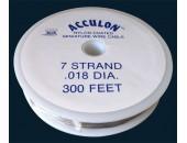 Fil acier gaine nylon 0.50mm / 10 metres