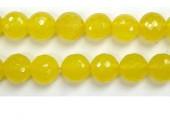 Perle facettes Aventurine jaune 8mm - Fil de 40 Centimetres