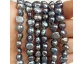 Perles d'Eau Douce Baroques Peacock Blue Ø 4/5mm