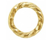 36 Anneaux Ronds 4.0mm Fermés ''Sparkle'' Fil 0.64mm 1/20 14K Gold Filled