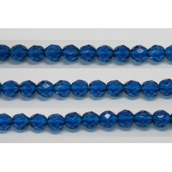 30 perles verre facettes aigue capri 10mm