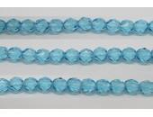 30 perles verre facettes aigue marine 6mm
