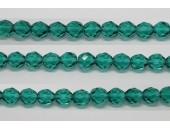 60 perles verre facettes aigue zircon 3mm