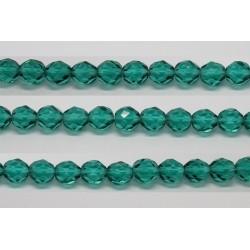 30 perles verre facettes aigue zircon 16mm
