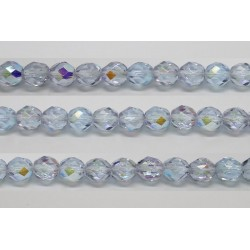 30 perles verre facettes alexandrite A/B 6mm