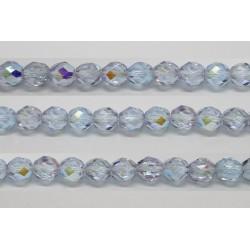 30 perles verre facettes alexandrite A/B 12mm