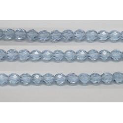 30 perles verre facettes alexandrite 6mm