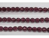 60 perles verre facettes amethyste 4mm