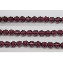 30 perles verre facettes amethyste 12mm