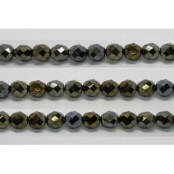 60 perles verre facettes bronze irise 5mm