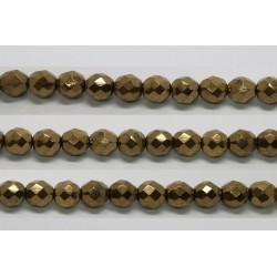 60 perles verre facettes noir bronze 4mm