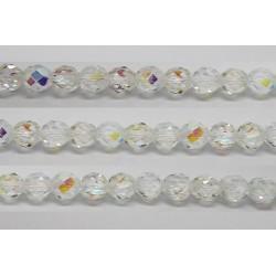 60 perles verre facettes cristal A/B 3mm