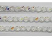 30 perles verre facettes cristal A/B 8mm