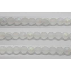 30 perles verre facettes cristal A/B mat 8mm
